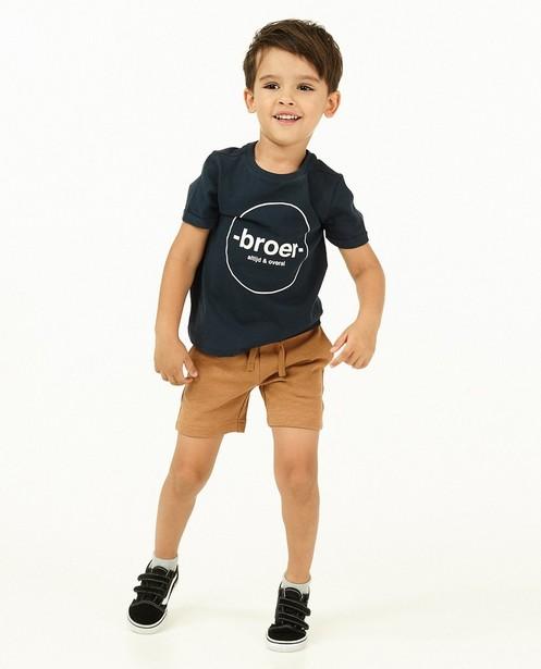 Short molletonné brun BESTies, 2-8 ans - avec du stretch - Besties