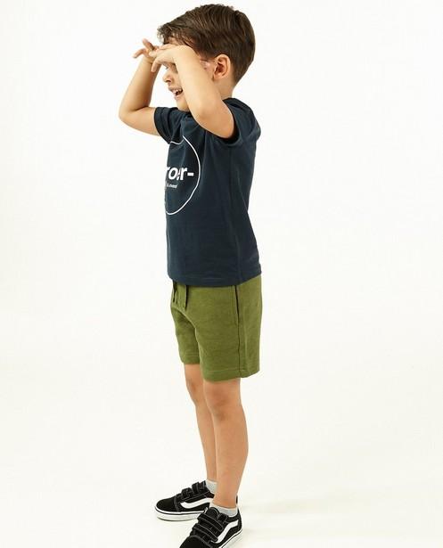 Short molletonné vert BESTies, 2-8 ans - avec du stretch - Besties