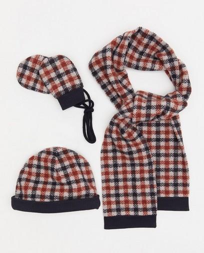 Ensemble: bonnet, écharpe et moufles