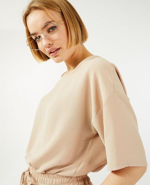 Beige blouse Ella Italia - met cut-out op de rug - Ella Italia