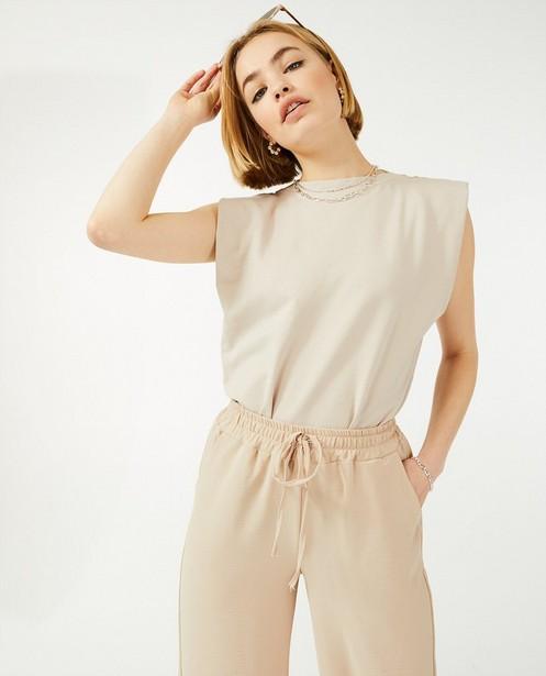 Pantalon palazzo brun Ella Italia - uni - Ella Italia