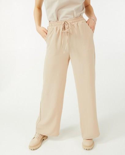 Pantalon palazzo brun Ella Italia