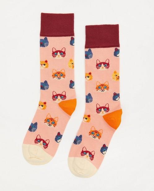 Chaussettes en coton bio Dilly Socks, 36-40 - à imprimé de chats - Dilly Socks