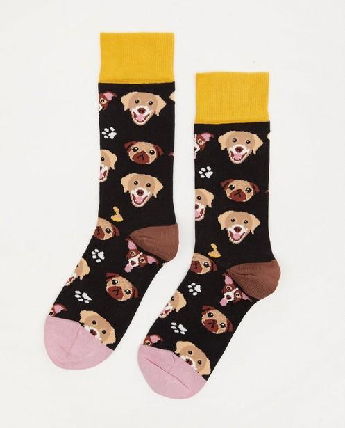 Biokatoenen kousen Dilly Socks, 36-40 - met hondenprint - Dilly Socks