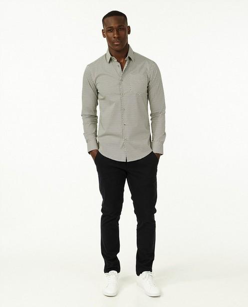 Hemd met blauwe stippenprint - met slim fit - Iveo