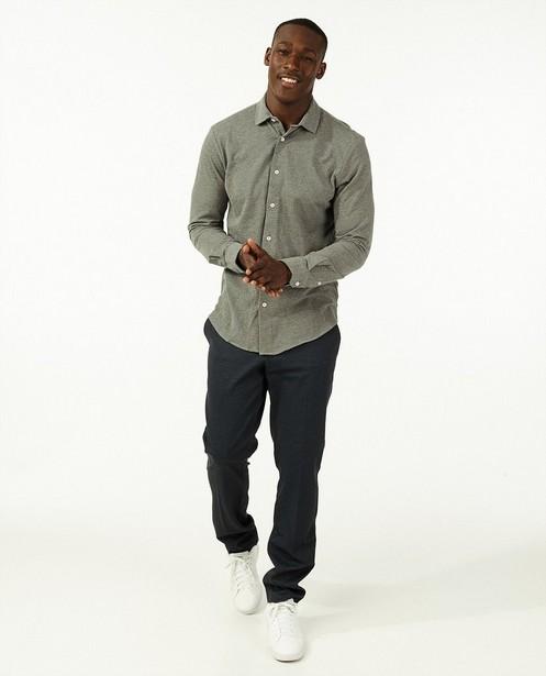 Grijs hemd van piqué jersey - 100% katoen - Iveo