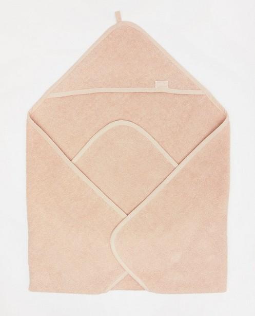Accessoires pour bébés - Cape de bain rose Jollein