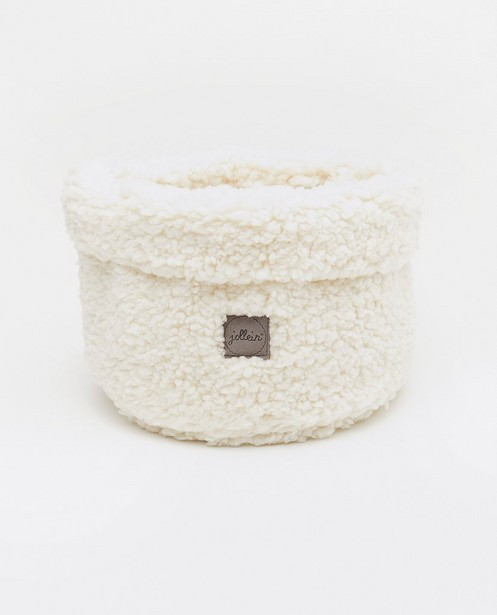 Offwhite teddy opbergmandje Jollein - doorsnede 18 cm - Jollein