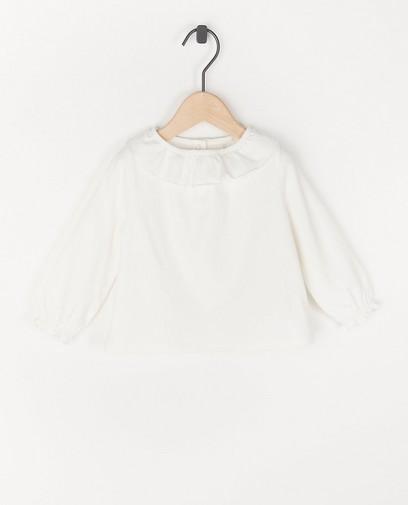 T-shirt à manches longues en coton bio à volant