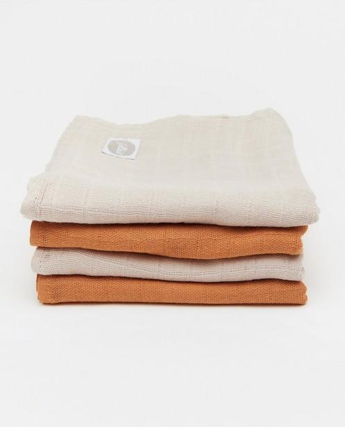 4 draps hydrophiles Jollein - en coton-bambou - Jollein