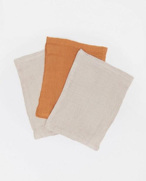 3 hydrofiele washandjes Jollein - van bamboe-katoen - Jollein