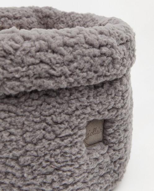 Accessoires pour bébés - Panier de rangement gris en peluche Jollein