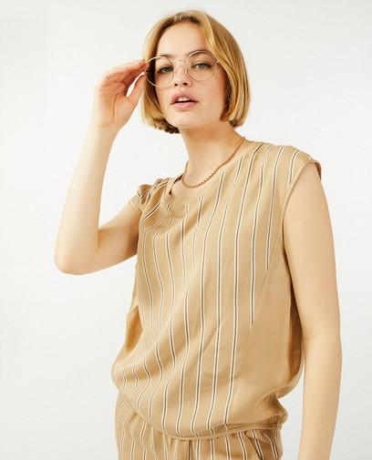 Beige blouse met strepen Ella Italia