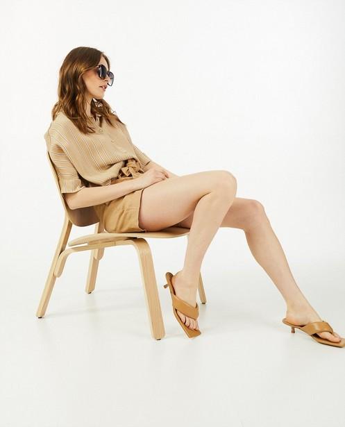 Bruine short Ella Italia - met knooplint - Ella Italia