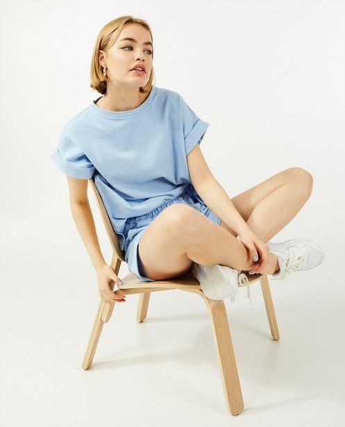 Lichtblauw sweatshirt Ella Italia - met oversized fit - Ella Italia