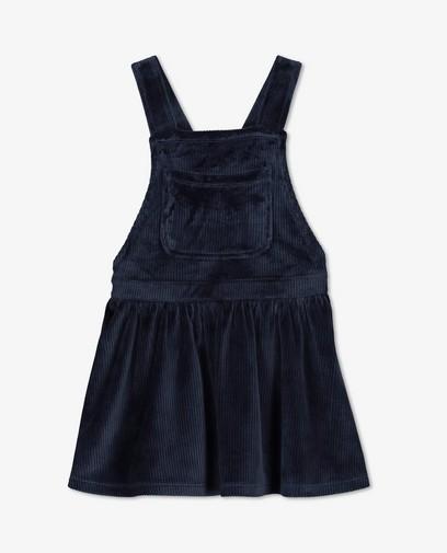 Ribfluwelen jurkje in blauw BESTies