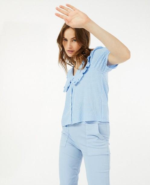 Lichtblauwe broek Ella Italia - met elastiek - Ella Italia