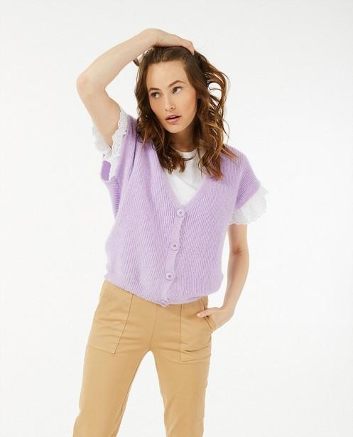 Pantalon brun clair Ella Italia - à élastique - Ella Italia