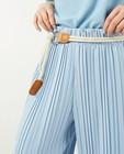 Pantalon bleu effet plissé Ella Italia - à jambes larges - Ella Italia