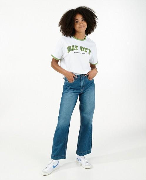 T-shirt blanc en coton bio - avec imprimé - Groggy