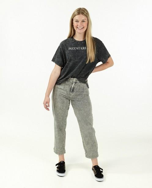 T-shirt noir à inscription - pizzatarian - Groggy