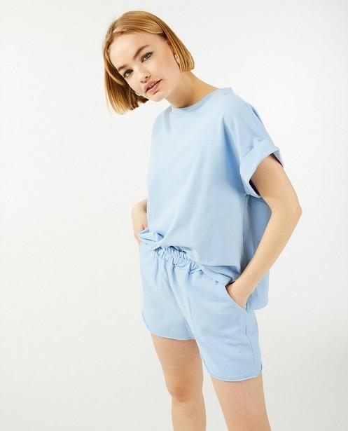Lichtblauwe sweatshort Ella Italia - korte fit - Ella Italia