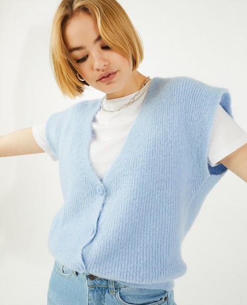 Pulls - Débardeur bleu avec des boutons Ella Italia