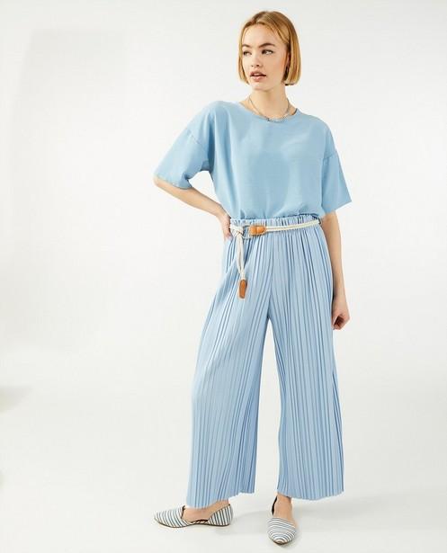 Blauwe blouse Ella Italia - met cut-out op de rug - Ella Italia