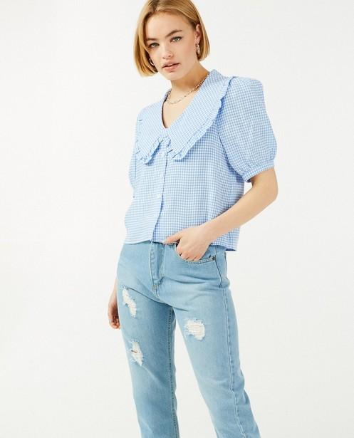 Jeans bleu destroyed Ella Italia - denim - Ella Italia