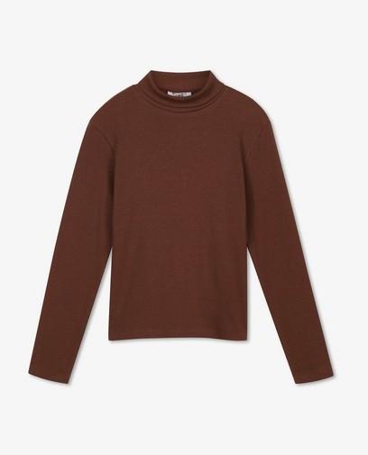 Sous-pull brun côtelé