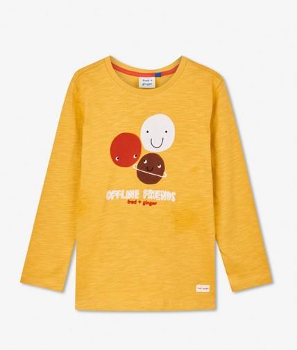 T-shirt à manches longues avec imprimé fred + ginger
