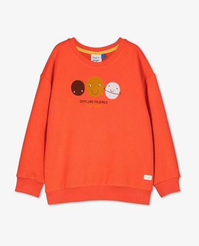 Unisex sweater met print fred + ginger