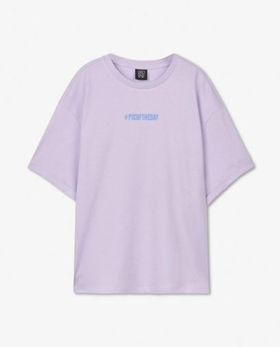 Biokatoenen T-shirt in lila