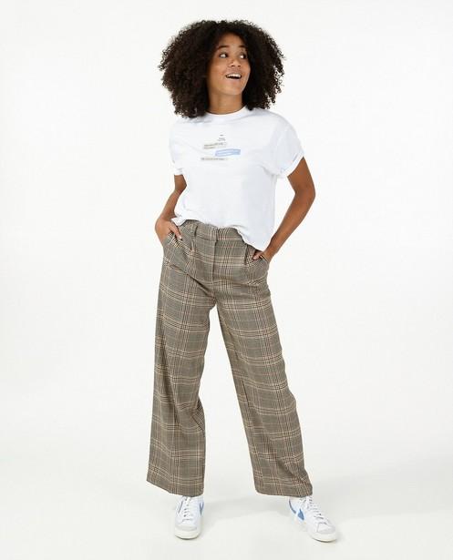 T-shirt en coton bio avec imprimé - blanc - Groggy