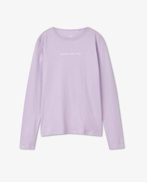 T-shirt à manches longues avec inscription BESTies - lilas - Besties