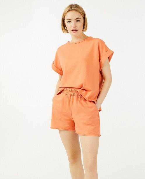 Oranje sweatshirt Ella Italia - met oversized fit - Ella Italia