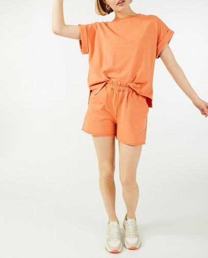 Oranje sweatshort Ella Italia