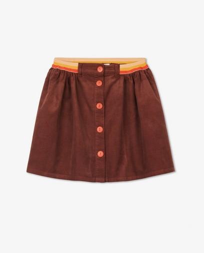 Bruine rok van ribfluweel fred + ginger