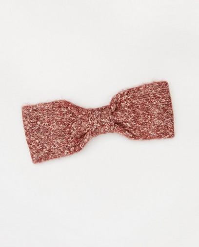 Rood-witte hoofdband met knoop