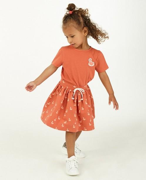 Roze T-shirt met patch - stretch - Milla Star