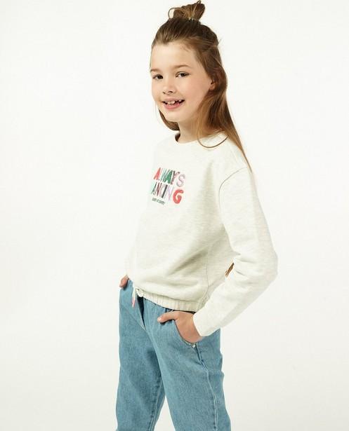 Sweater met opschrift Campus 12 - gemêleerd - Campus 12
