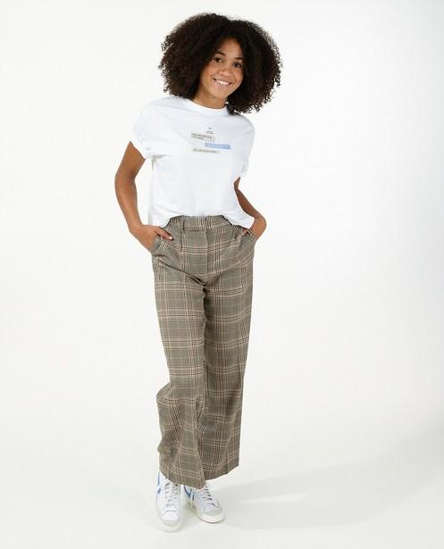 Pantalon beige à imprimé - intégral - Groggy