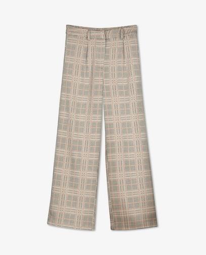 Pantalon beige à imprimé