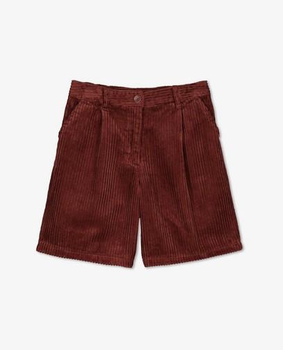 Bermuda brun rouge en velours côtelé