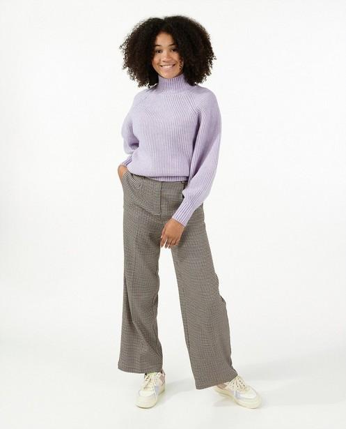 Pantalon brun à imprimé - intégral - Groggy