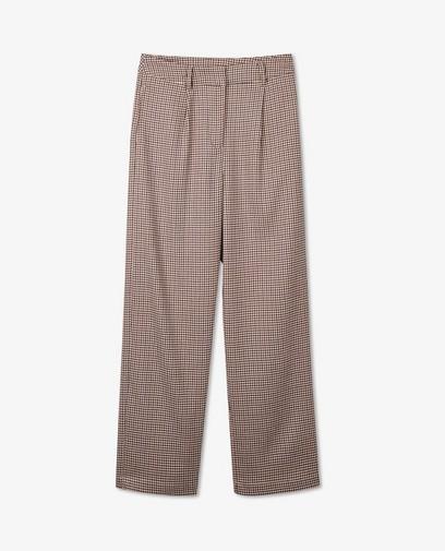 Pantalon brun à imprimé