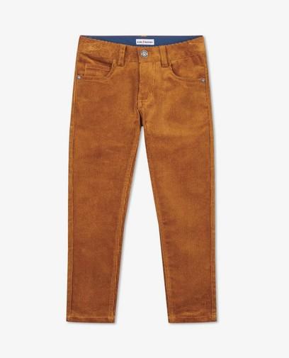 Pantalon brun en velours côtelé Simon