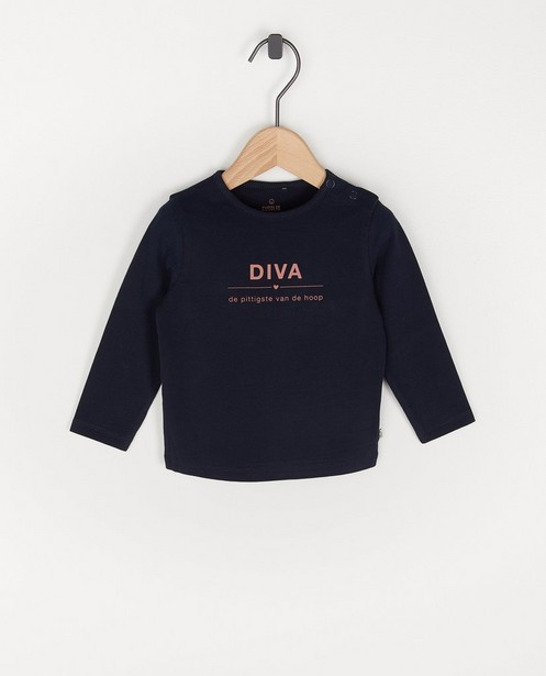 Blauwe longsleeve met NL opschrift - stretch - Cuddles and Smiles