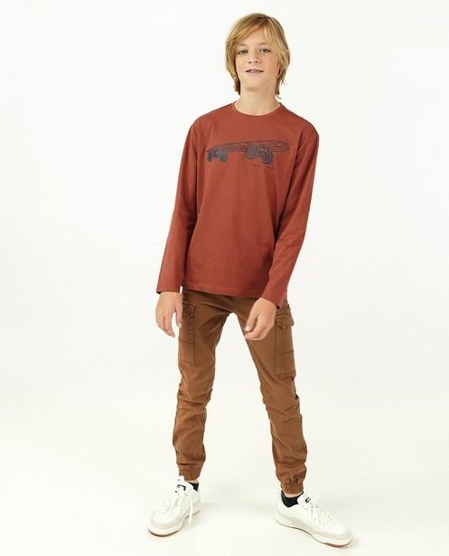 T-shirt à manches longues avec imprimé caoutchouté BESTies - avec du stretch - Besties