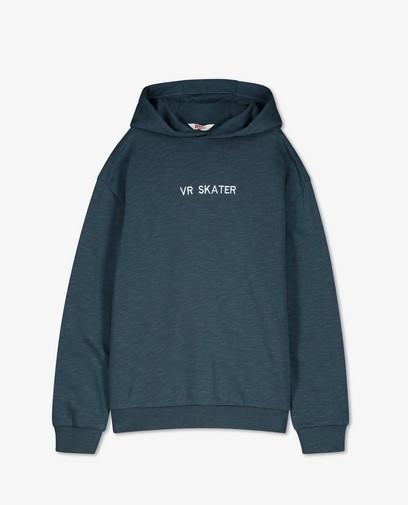Blauwe hoodie met opschrift BESTies